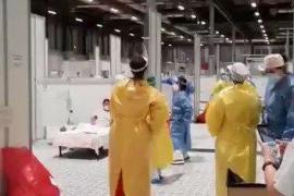 Un emocionante baile para los enfermos ingresados en Ifema