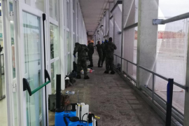 El Ejército trabaja en labores de desinfección en Menorca