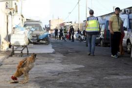 Redada de la Policía Nacional contra el narcotráfico  en el poblado de Son Banya