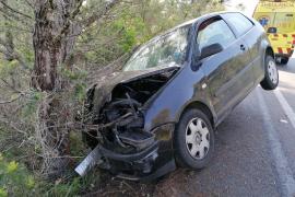 Una mujer, herida tras sufrir un accidente de tráfico en Porto Cristo