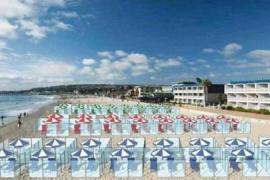 Playas con separaciones para evitar el coronavirus este verano