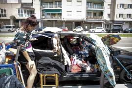 Vivir el confinamiento dentro de un coche en Palma