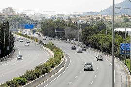 La saturada vía de cintura de Palma soporta a diario 137.000 vehículos menos