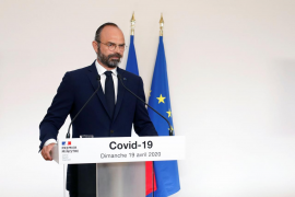 French Prime Minister Edouard Philippe attends a news conference in Paris