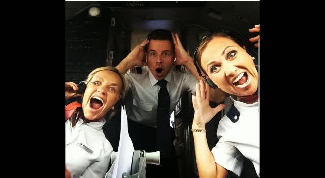 El optimismo de una tripulación de Air Europa frente a la tormenta