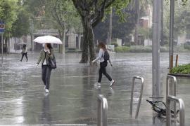 Alerta por intensas lluvias en Baleares