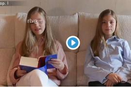 Leonor y Sofía ponen voz al Quijote en su lectura virtual