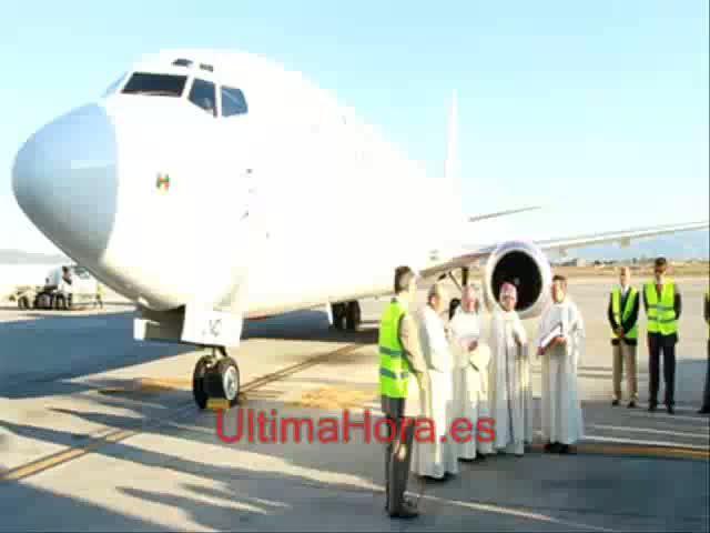 Bendecido un avión de Alba Star con el nombre «La Seu de Mallorca»