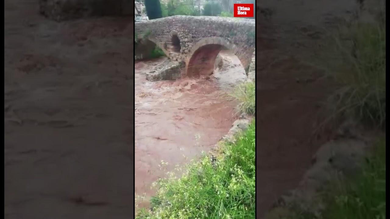 El torrente de Sant Jordi, cargado de agua