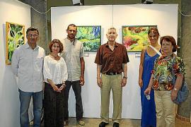 Exposición de pinturas de alumnos de la academia Joan Vich