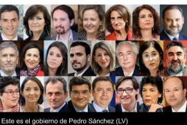 El gobierno con los ministros nombrados por Pedro Sánchez
