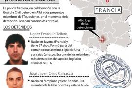 Detenidos en Francia dos presuntos miembros de ETA que iban armados