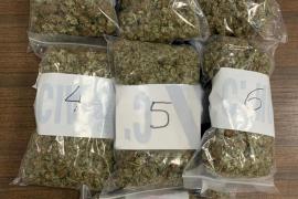 Dos detenidos en Palma que transportaban un kilo de marihuana oculto en el coche