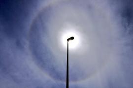 Un halo solar adorna el cielo de Mallorca