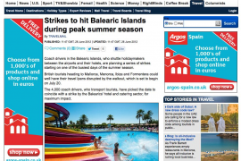 El anuncio de huelgas provoca la cancelación de reservas turísticas en  Europa hacia Balears