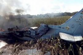 Imagen del accidente de avioneta en Bolivia en el que viajaban cuatro españoles.