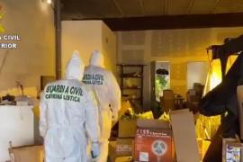 La Guardia Civil desmantela una plantación de marihuana en un garaje de Montuïri