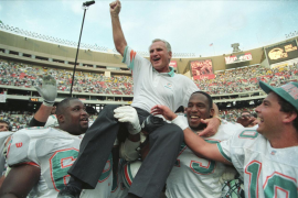 Fallece 'Don' Shula, leyenda del fútbol americano