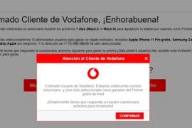 Alerta de 'phishing': El falso aniversario de Vodafone