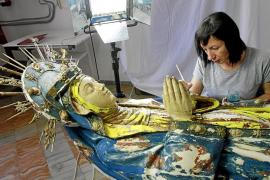 La Mare de Déu Morta de s'Arracó recupera su policromía del siglo XVI