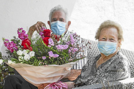 Catalina Roselló y Francisco Ribas en su 70 aniversario.