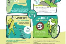 El Ayuntamiento de Ibiza amplía el espacio para peatones los fines de semana