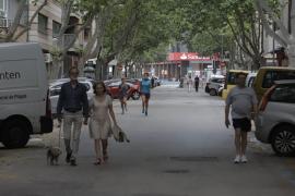 Primer día de cierre de calles al tráfico en Palma para facilitar los paseos