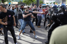Protestas en Alemania contra las medidas restrictivas por la pandemia