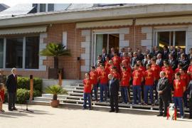 RECEPCIÓN SELECCIÓN ESPAÑOLA EN PALACIO DE LA ZARZUELA
