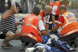 Fallece un motorista de 48 años tras colisionar contra un turismo en Palma
