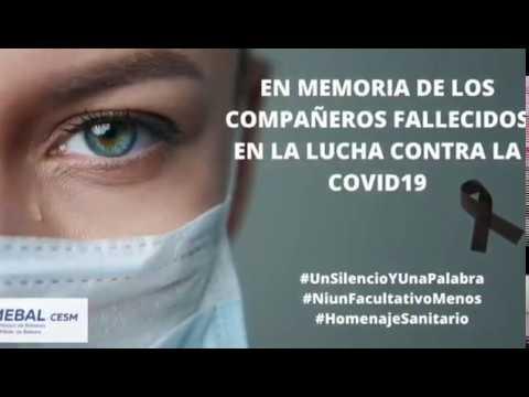 Dos minutos de silencio por los sanitarios fallecidos con coronavirus