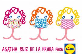 Las mascarillas más solidarias de Lidl y Agatha Ruiz de la Prada