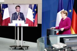 Merkel, en una videoconferencia con Macron.