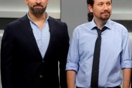 Abascal acusa a Iglesias de actuar como un «matón» y un «criminal»