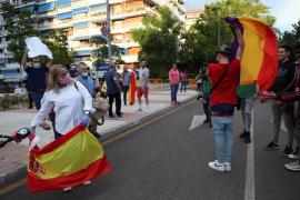Tensión en Alcorcón entre manifestantes en la décima jornada de protestas en Madrid