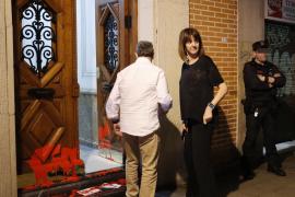 Arrojan pintura y octavillas por preso de ETA en la vivienda de Idoia Mendia