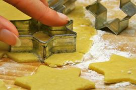 Galletas de limón caseras para un desayuno de pastelería