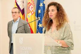 Pilar Costa y Juan Pedro Yllanes, en la última rueda de prensa que dio el Govern el pasado viernes.
