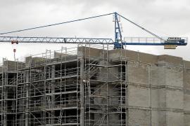 Imagen de un edificio en construcción.