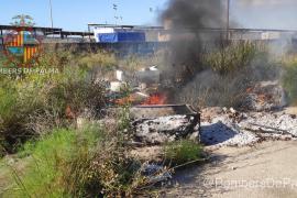 Incendio en el recinto de la Feria de Abril de Palma