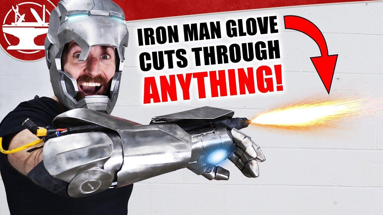 Fabrican una réplica del guante de Iron Man con un cortador de plasma capaz de abrirse paso por el metal