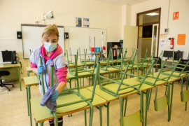 Mínima asistencia a clase en el primer día de tutorías presenciales en Baleares