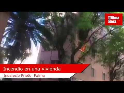 Tres intoxicados en un incendio en un piso en Palma