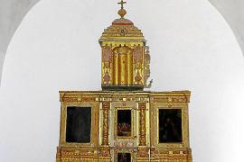 Comienza la restauración del retablo del Sagrario de la ermita de Sant Miquel