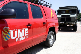 La UME despliega personal y vehículos a la lucha contraincendios en Baleares