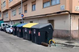 Aparece un obús junto a un contenedor en Palma