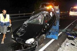 Una embarazada sin carnet sufre un aparatoso accidente de tráfico en Son Servera