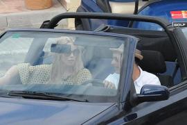 Claudia Schiffer en Mallorca junto a su familia