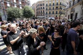 Protestas de los funcionarios por los recortes