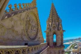 Las impresionantes vistas desde las terrazas de la Catedral de Mallorca sin salir de casa